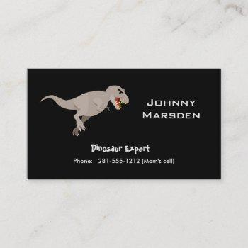 kid business card dinosaur expert