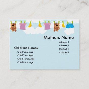 kids clothesline mommy card