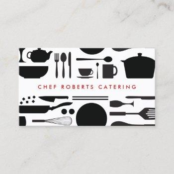 kitchen collage black/white business card