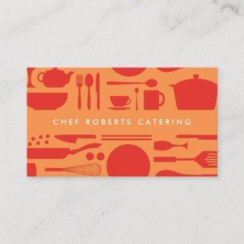 kitchen collage red/orange business card