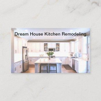 kitchen remodeling & construction business card