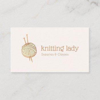 knitting crochet yarn ball logo business card