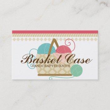 knitting crochet yarn basket crafts hobbies business card