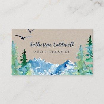 kraft rocky mountain adventure guide business card