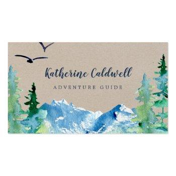Small Kraft Rocky Mountain Adventure Guide Business Card Front View