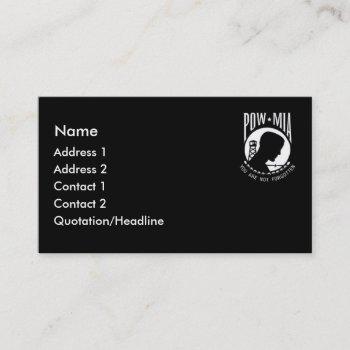 krw pow mia black business card