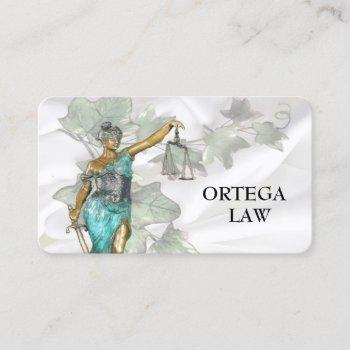 lady justice 2020 business card