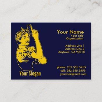 lady shooter  business cards