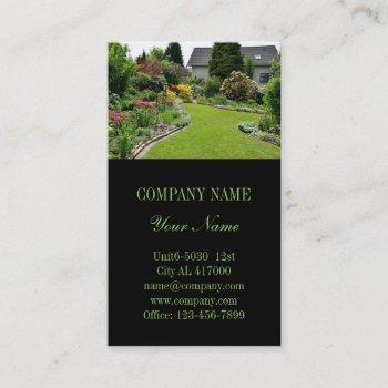 landscape designer lawn care landscaping business card