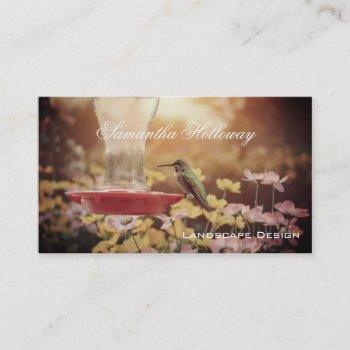 landscape gardening hummingibrd business cards