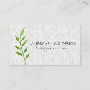 landscaping & design modern business card