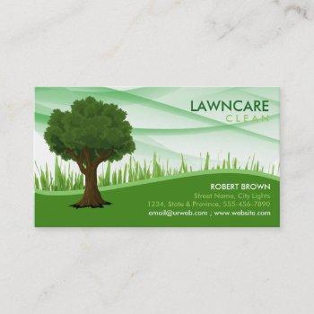 landscaping gardener grass tree clean nature business card