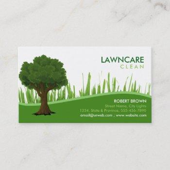 landscaping gardener tree grass clean nature business card