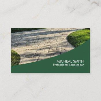 landscaping lawn care gardener professional business card