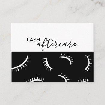 lash extension aftercare card