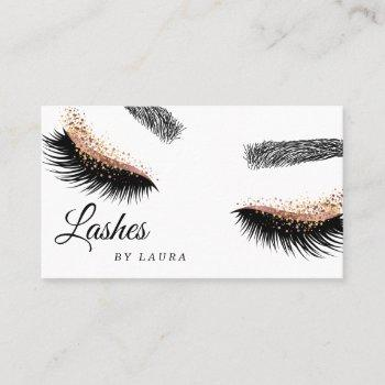 lashes makeup artist rose gold mascara brows business card