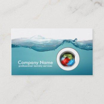 laundry service - blue water business card