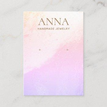 lavender beach  earring jewelry display business card