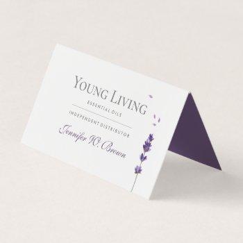 lavender print floral essential oils business card