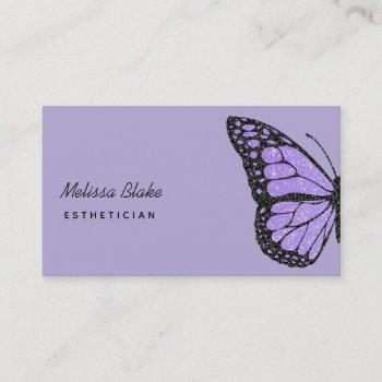 lavender purple butterfly logo business card