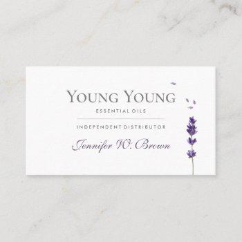 lavender purple floral elegant essential oils business card