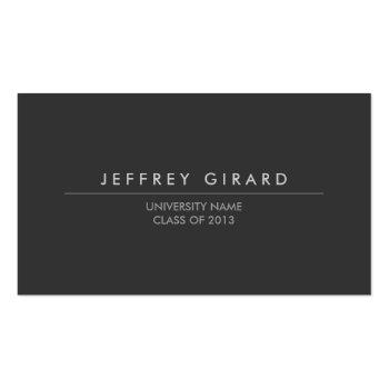 Small Law Student Modern Business Card Front View