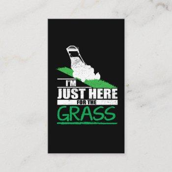 lawn care funny lawn mower grass mowing business card