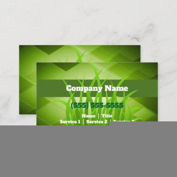 lawn care gardening landscaping business card