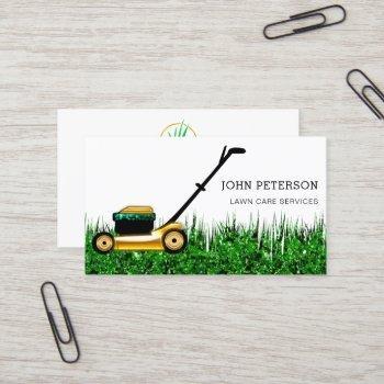 lawn care gardening service grass cutting logo business card