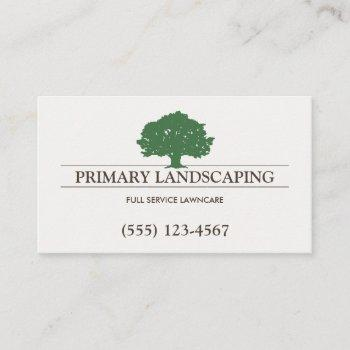 lawn care landscaper tree business card
