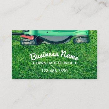 lawn care & landscaping professional mower business card