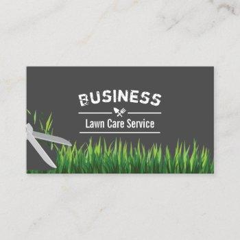 lawn care & landscaping service dark gray business card