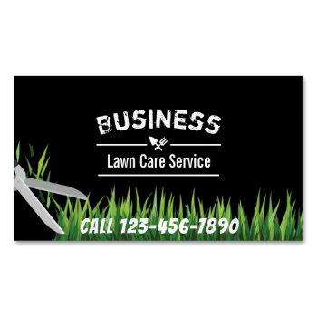 lawn care & landscaping service professional magnetic business card