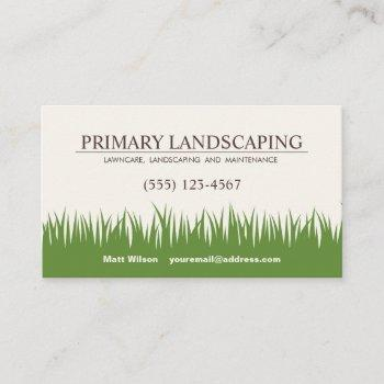 lawn care landscaping services grass business card
