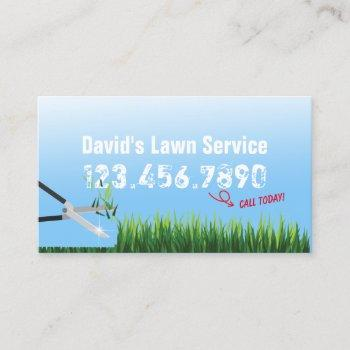 lawn care & mowing gardening service business card