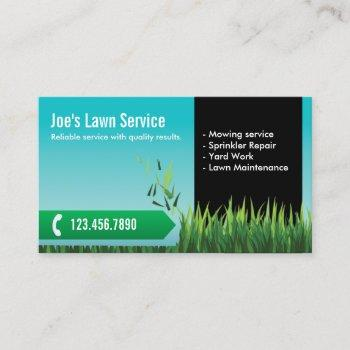 lawn care mowing landscaping business card