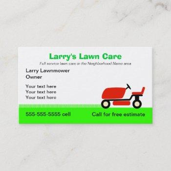 lawn care services business card