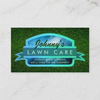 lawn care slogans business cards