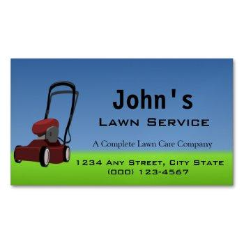lawn service business card magnet