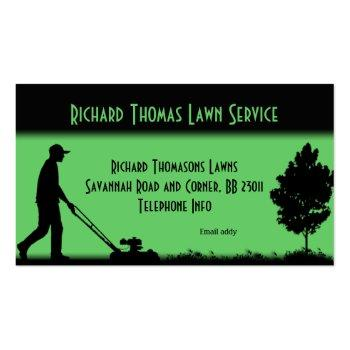 Small Lawn Service Landscape  Business Card Front View