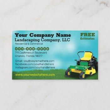 lawncare landscaping grass cutting business card