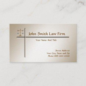lawyer attorney business card