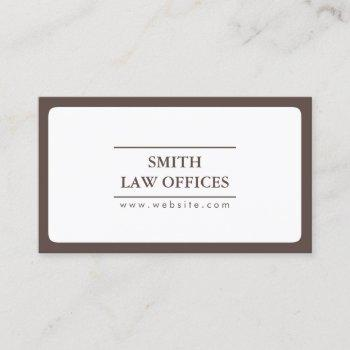 lawyer attorney plain round corner business card