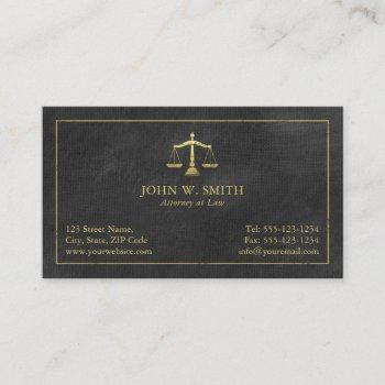 lawyer scales of justice gold (effect) attorney business card