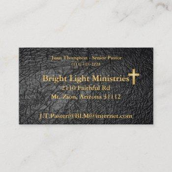 leather bible skin business card