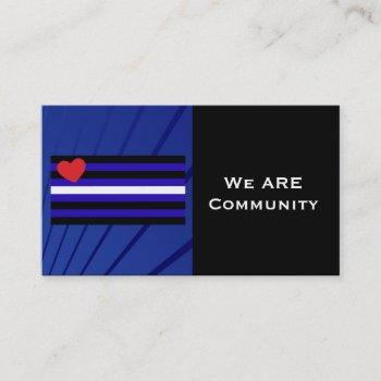 leather pride flag community card