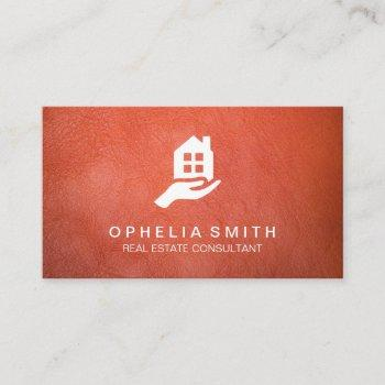 leather real estate | realtor agent business card