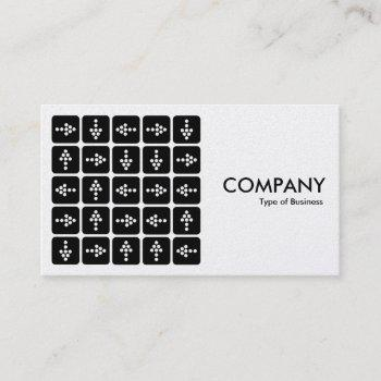 led arrows square - white (platinum card) business card