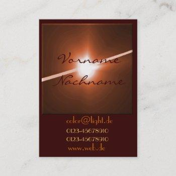 led bronze business card