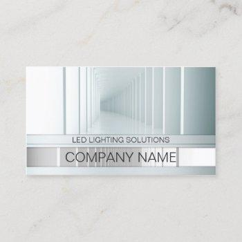 led lighting solutions perspective view business card
